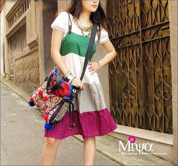 Freeshipping Embroidered Handbag Original Design Tote bag Messenger bag Hmong Embroidery Handbag Ethnic bag purse CEB-F03