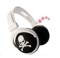 new arrival free shipping skull design High-Definition Headphones, earphone,earplug