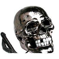 Free Shipping Black Vintage Skull Shape Novelty Telephone Fearful Skull Shape Novelty Corded Telephone Novelty Skull Telephone