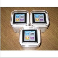 "Free shipping 1.5"" LCD 8GB 6th stlye MP3 MP4 Player ID3 Lyrics display E-book Video Radio FM MP3 MP4 +GIFT"