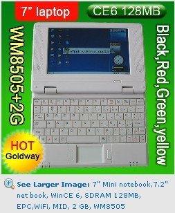 "7"" Mini notebook,7 inch laptop, WinCE6.0 SDRAM 256MB, EPC,WiFi, MID, 4GB, WM8650(China (Mainland))"