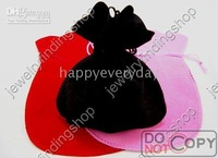 wholesale mixed color jewelry pouch 11*13cm FreeShipping 150pcs wedding velvet