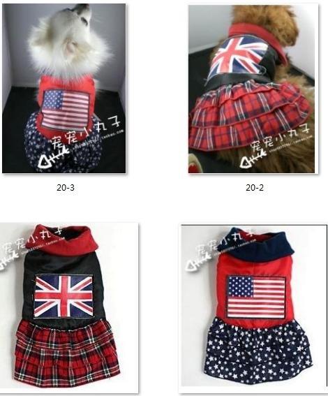 Novo! Frete grátis super casaco quente dresspet pet cão confecções dog jaqueta de inverno u. S. Inglês bandeira bandeira(China (Mainland))