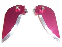 Free shipping, CPV Racing, Red Aluminum Adjustable Turn Fin for Boats(2PCS)-37*85mm, Item No: 62180B toys
