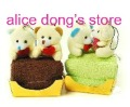 Animal Cake Towel As Birthday Wedding Valentine Day Gift Accept Mix Order(China (Mainland))