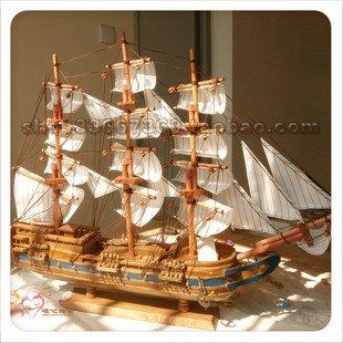 narnia100% handgemaakte houten zeilboot, huisdecoratie, handwerk, schip Modle, bruiloft/valentijn/pasen giften(China (Mainland))