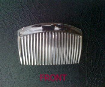 23 Teeth 8.0 cm Transparent Plastic Comb Fascinator Comb 100pcs/lot