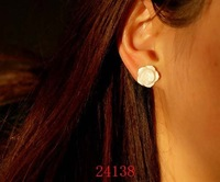 Wholesale Trendy Jewellery Ladies Carved White Shell Ear Pin Ear Ring 30pairs Mixed Lot Free Shipping