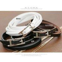 Fashion Leather Bracelet Buckle Design B, Leather Bangle free shipping