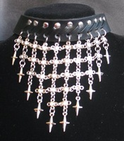 Fashion Real Leather Necklace Punk style