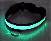 Free shipping flashing dog collar, LED light pet collars / light pet collar