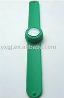 pretty green silicone slap on watch