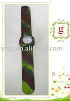 Eco-friendly green slap watch