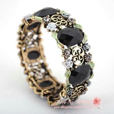 36 pçs/lote vinte estilos diferentes de moda cristal pedrinhas trecho pulseira liga grátis frete(China (Mainland))