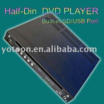 Perfect design- NEW Car HALF DIN DVD-In-Dash DIVX/MP3/CD/DVD Player+USB/SD Slot  CAR HALF-DIN DVD CAR 1/2 DIN DVD