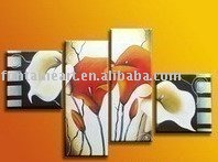 Handmade modern abstract flower decorative oil painting,beautiful calla lily