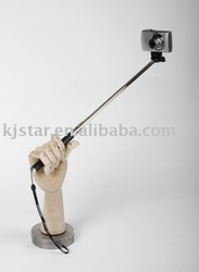 Factory sealed light weight steel 7-section hand held monopod for camera(black,blue,pink)(China (Mainland))