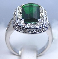 """""""Free shipping Jewellery"""" 5 pieces0/lot New Arrival Fashion  Emerald 10kt gold ring sz8 9327"""