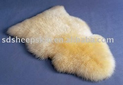 1Pc 2013 Hot Sale Lambskin Loog Hair Sheepskin Rugs (100*60cm) Yellow(China (Mainland))