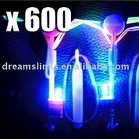 600 Newest toy LED Amazing Flying umbrella Flashing Color  Blue LED helicopter flying umbrella OPP BAG CARD