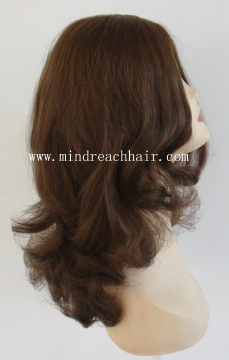 "12"" super wave 100% european hair jewish wig,accept(China (Mainland))"