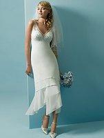 Cheap !!Hot Sell Free Shipping New Custom Slim Short Beach Wedding Dress Bridal Gown Cheap New