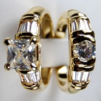 """Free shipping Jewellery"" New Arrival Fashion  white Sapphire  love  wedding 10kt Yellow gold ring sz8/9  9325"