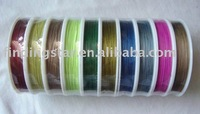 FREE SHIPPING 10ROLLS Rolls 100 M Mixed Colour Tiger Tail Beading wire .45mm