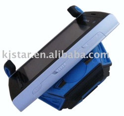 Free shipping,100pcs/lot brand new plastic mini stand for digital device,wholesale and retail,black blue,factory sealed(China (Mainland))