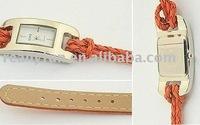 Hot Sale Fashion lady's watch / leather rope bracelet-style strap girls' watch
