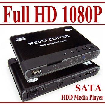"""2.5"""" Full HD 1080P HDD Media Player - MKV H.264 DIVX DTS MP3 DVD AVI-SD USB -"""