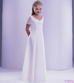 Free Shipping Wholesale Retail Lovely Satin Flower Girl Dress