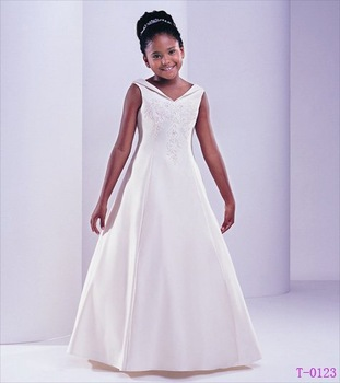 Free Shipping Wholesale Retail Lovely Halter Sleeveless Flower Girl Dress