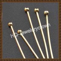 Free shipping wholesale 18K gold tone ball head  pin/headpins  MP610007  1000pcs/lot   50mm