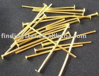FREE SHIPPING 2000Pcs Gold Plated HEAD PIN findings 14 x 0.7mm M773