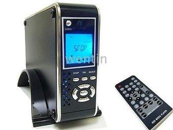 """3.5"""" HDD player Enclosure Media Center - SATA/IDE - LCD YPrPb SD - Avi DVD DIVX MP3 - sample"""