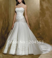Свадебное платье best selling Lace 2013 Bridal Wedding Dresses with Long Sleeve any size/color /retail
