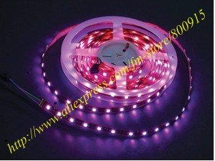 Hot sell!Non-waterproof RGB LED strip light 5050 SMD(60LEDS/M,5M/Roll)+12V power supply+Remote IR,5pcs/lot+Free shipping!(China (Mainland))