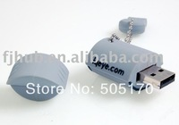 Free shipping 2GB 4GB 8GB 16GB 32GB 64GB custom Rubber material USB Flash Drive,excellent quanlity!