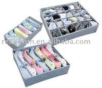 3pcs/set, free shipping bamboo charcoal storage boxes set,non-woven storage box
