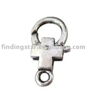 FREE SHIPPING 100PCS tibetan silver cross lobster clasp Clasp20
