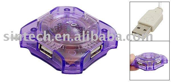 USB 2.0  HUB, 4ports HUB adapter ,4 ports lotiform USB2.0 Hub cable adapter