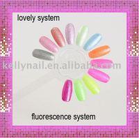 Free Shipping 48pcs/lot Clear&Natural Color Lollipop Shape Nail Polish Color Chart