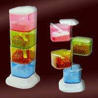 40pcs/lot Creative colourful revolving pepper set/ condiment set/ salt and pepper set