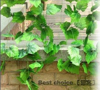 120x Silk flower, plastic flowers, artificial flowers, decorative flowers, flower vine, grape leaves, green flower bar Flower