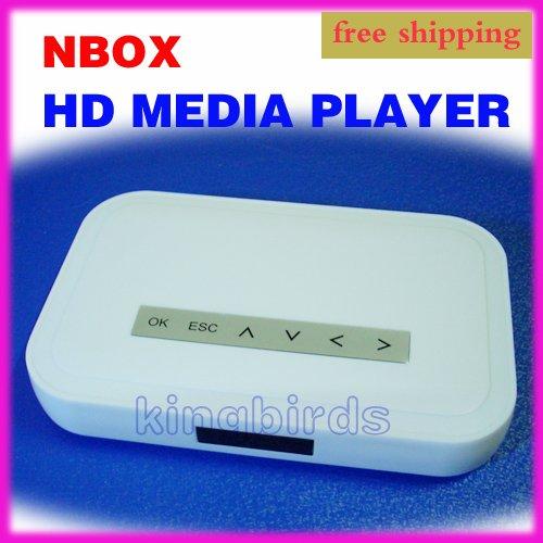 """Free Shipping USB SD NBOX 2.5"""" 3.5"""" HD MEDIA PLAYER RM RMVB Divx MPEG(China (Mainland))"""