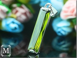 NEW ! Ultra-low price,Gift Bag, Fashion Jewelry, Dense Zircon 925 Green Peridot Emerald cut Pendant MP19Pe(China (Mainland))