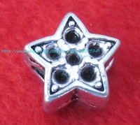 Tibetan Silver Jewelry Star Spacer Beads Findings Fit bracelet