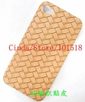 10pcs/lot Free shipping wholesale-Newest Weave Hard Cover Case for iPhone 4 4G
