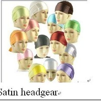 h011006 satin headgear ,inner muslim hat for free shipping,fast delivery,assorted colors in one dozen